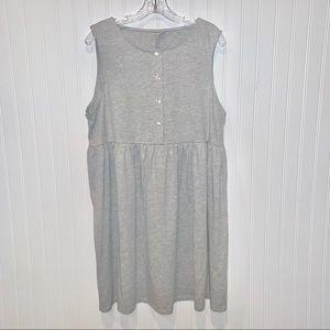 ASOS Gray Babydoll Sleeveless Jersey Dress sz 16